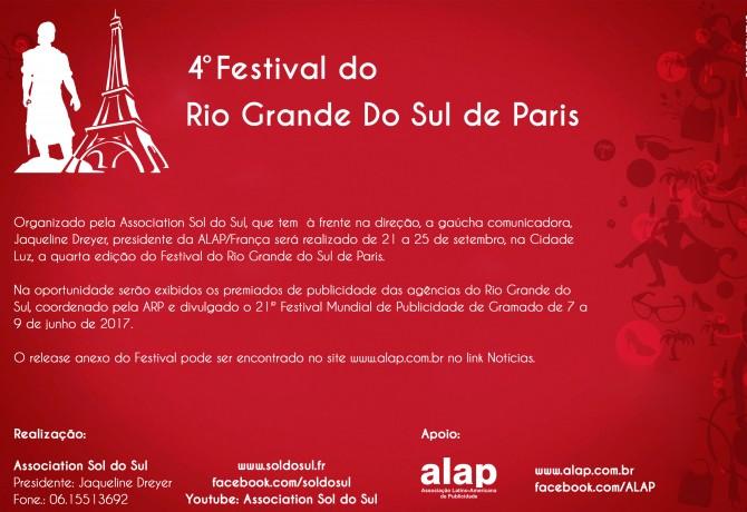 Peças premiadas no CRIARP 2015 participam de festival em Paris Promovido pela ALAP-França, evento acontece de 21 a 25 de setembro