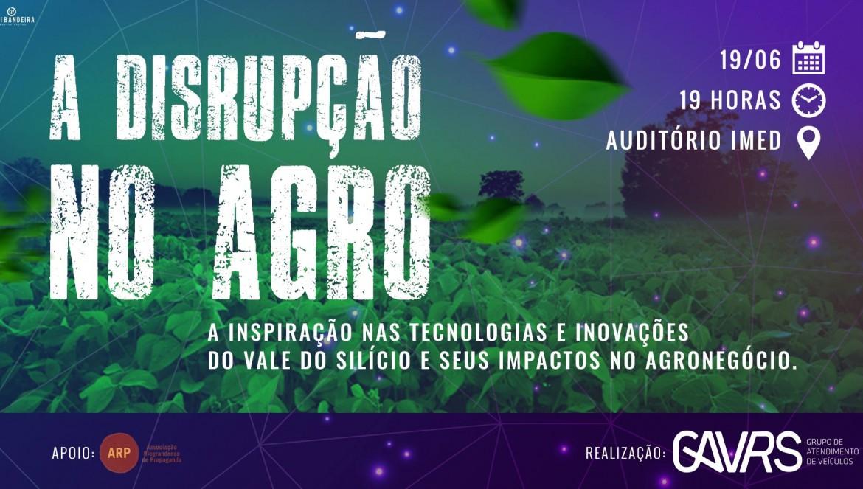 ARP apoia evento do GAVRS sobre a disrupção no agronegócio