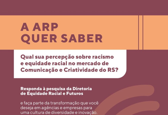 A Diretoria de Equidade Racial e Futuros da ARP quer ouvir você em sua primeira ação